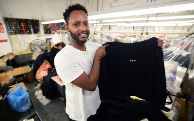 Refugee risks everything on NYC's garment industry — one $350 sweatshirt at a time