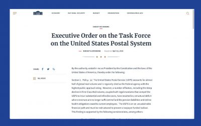 Executive Order on the Task Force of the United States Postal System