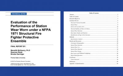 Evaluation of the Performance of Station Wear Worn under a NFPA 1971 Structural Fire Fighter Protective Ensemble