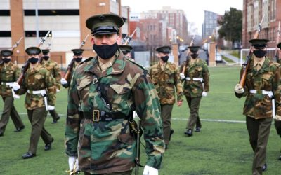 What kind of uniform is that? Marines drill for inauguration in unique style