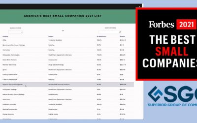 Superior Group of Companies (SGC) has been named by Forbes magazine as one of America's Best