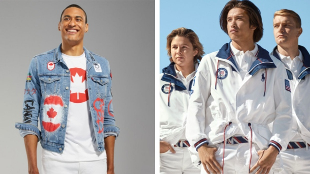 Canada and USA's Olympic uniforms couldn't be more different