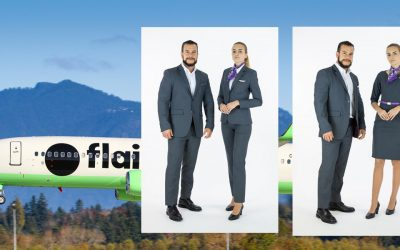 Flair Airlines Unveils New Uniforms at 38,000 Feet