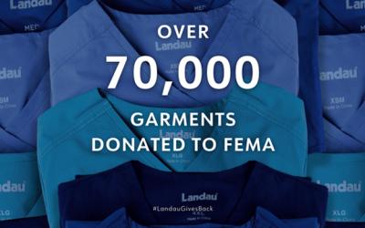 Landau Uniforms Donates More Than 70,000 Scrub Sets and Chefwear to FEMA